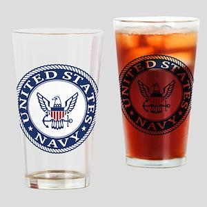 United States Navy Drinking Glass