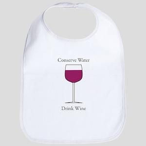 Conserve Water Drink a Wine Bib
