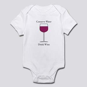 Conserve Water Drink a Wine Infant Bodysuit