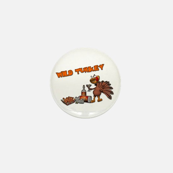 Wild Turkey Mini Button