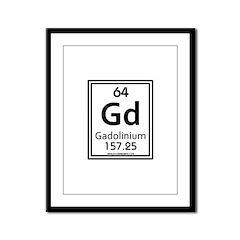 Gadolinium Framed Panel Print
