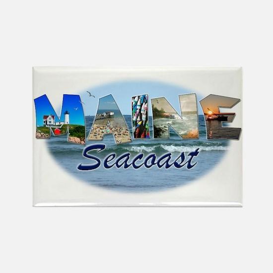 Maine Seacoast Rectangle Magnet