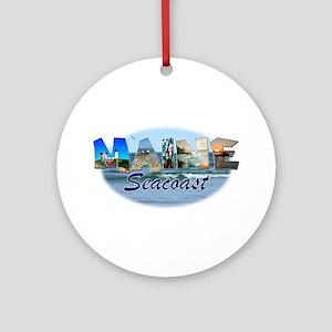 Maine Seacoast Ornament (Round)