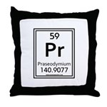 Praseodymium Throw Pillow