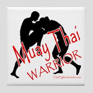 Muay Thai Warrior Tile Coaster