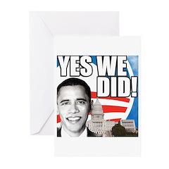 Obama Biden 2008 Greeting Cards (Pk of 20)