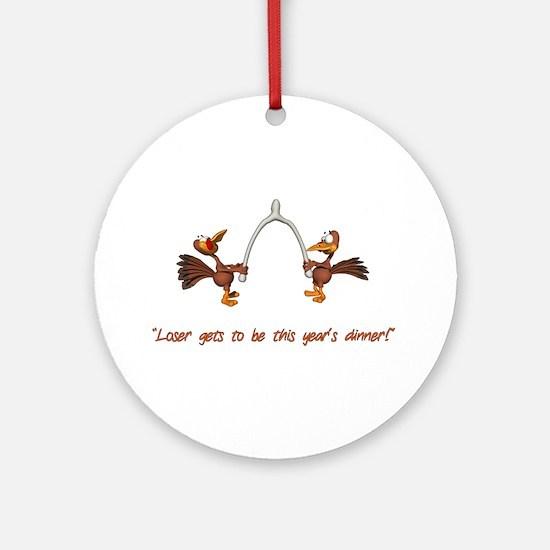 Thanksgiving Turkey Dinner Ornament (Round)