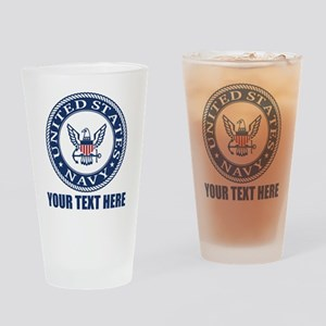 Personalized United States Navy Drinking Glass