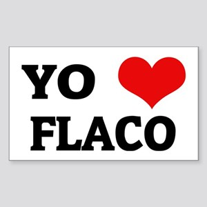 Amo (i love) Flaco Rectangle Sticker