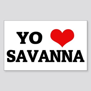 Amo (i love) Savanna Rectangle Sticker