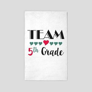 Team 5th Grade Teacher Shirts Back to Sch Area Rug