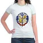 USS HALSEY POWELL Jr. Ringer T-Shirt
