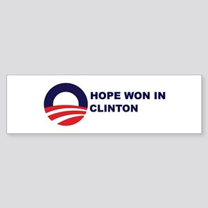 Hope Won in CLINTON Bumper Sticker
