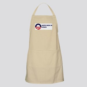Hope Won in CERES BBQ Apron