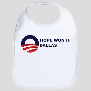 Hope Won in DALLAS Bib