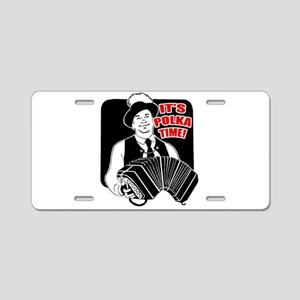 Polka Time Aluminum License Plate