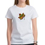 """""""Give Thanks"""" Leaf Women's T-Shirt"""