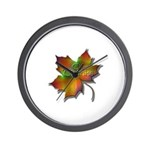 """""""Give Thanks"""" Leaf Wall Clock"""