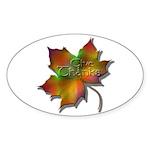 """Give Thanks"" Leaf Oval Sticker (10 pk)"