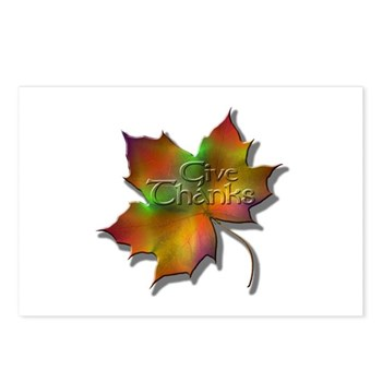 """Give Thanks"" Leaf Postcards (Package of 8)"
