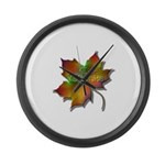 """""""Give Thanks"""" Leaf Large Wall Clock"""