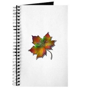 """Give Thanks"" Leaf Journal"