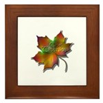 """""""Give Thanks"""" Leaf Framed Tile"""
