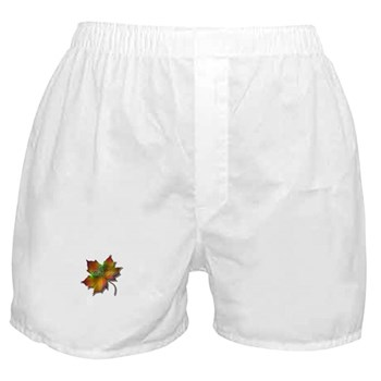 """Give Thanks"" Leaf Boxer Shorts"