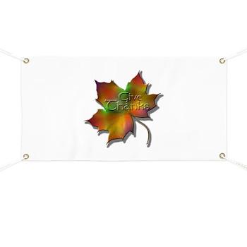 """""""Give Thanks"""" Leaf Banner"""