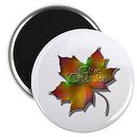 """""""Give Thanks"""" Leaf 2.25"""" Magnet (100 pack)"""