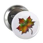"""""""Give Thanks"""" Leaf 2.25"""" Button (10 pack)"""