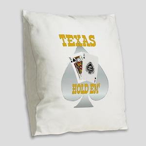 Texas Gold Burlap Throw Pillow