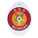 Michigan OES Oval Ornament
