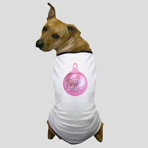 First Christmas (pink) Dog T-Shirt