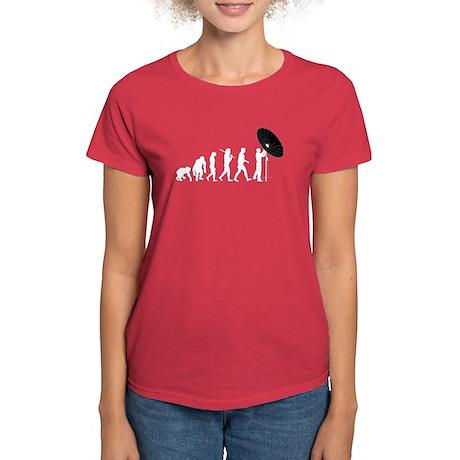 Satellite Dish Technician Women's Dark T-Shirt