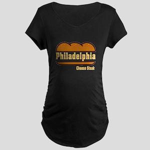 Philadelphia Cheesesteak Maternity Dark T-Shirt