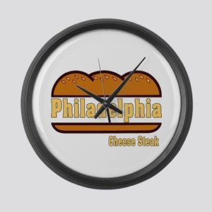 Philadelphia Cheesesteak Large Wall Clock