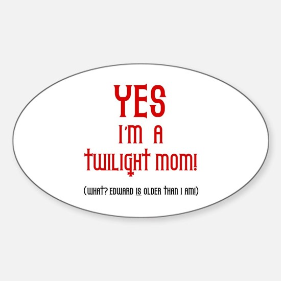 Twilight Mom Oval Decal
