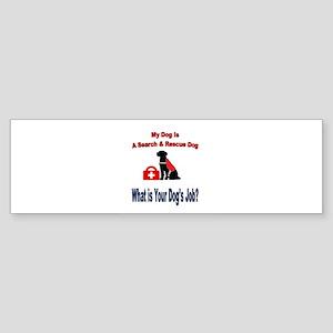 search and rescue dog Bumper Sticker