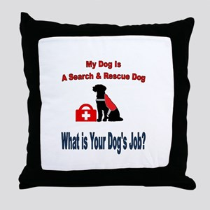 search and rescue dog Throw Pillow