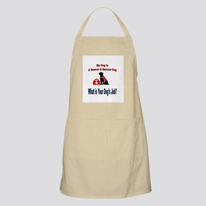 search and rescue dog Light Apron