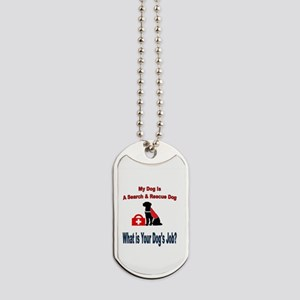 search and rescue dog Dog Tags