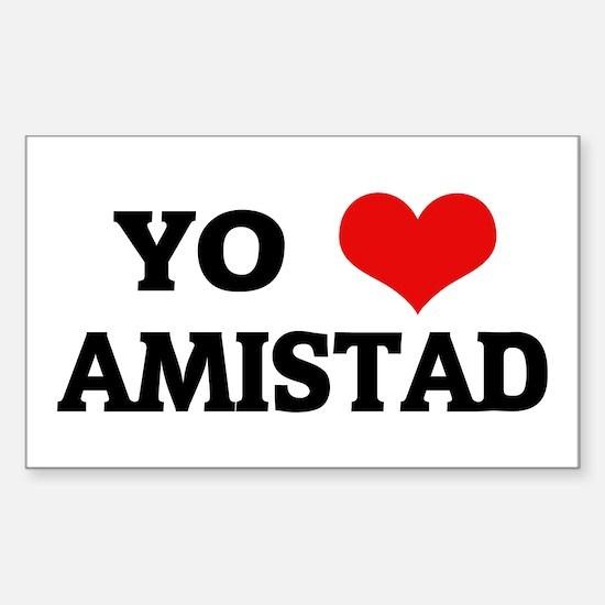 Amo (i love) Amistad Rectangle Decal