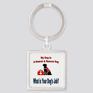 search and rescue dog Keychains