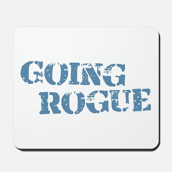 Blue Going Rogue Mousepad