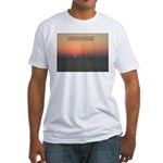 Caribbean Sunset Fitted T-Shirt