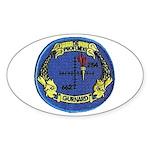 USS Gurnard Oval Sticker (10 pk)