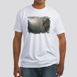 Old Man of the Mountain Fitted T-Shirt