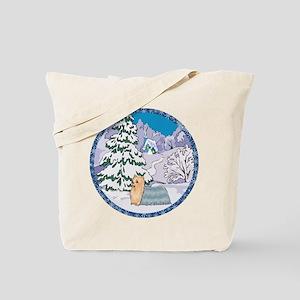 Winter Wonderland Yorkie Tote Bag