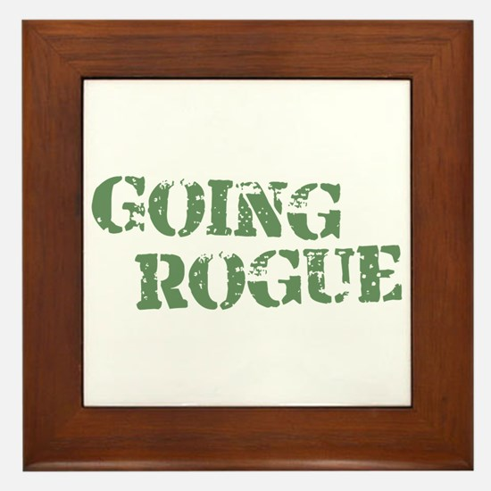 Military Going Rogue Framed Tile